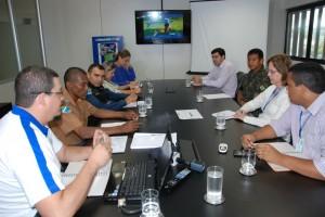 Reunião no Sesi definiu esquema de segurança (Foto: Divulgação)